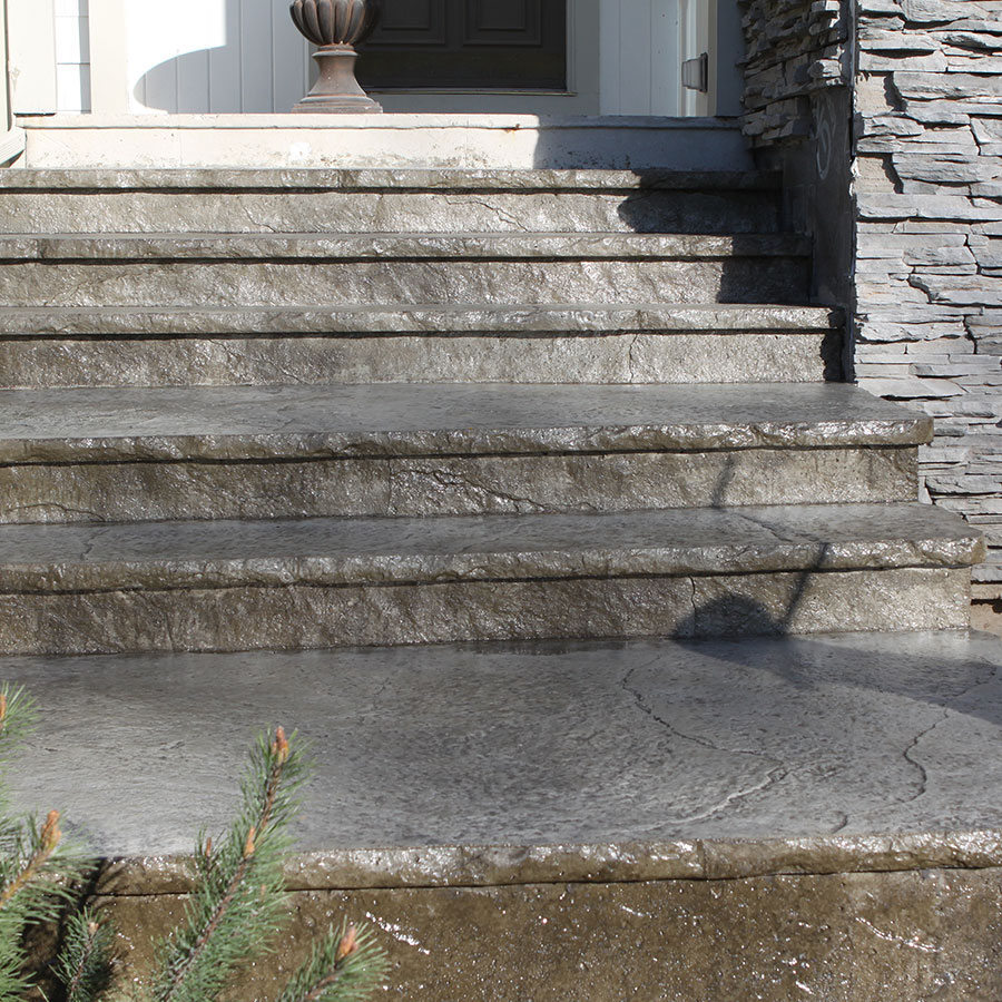 Stamped Entryway Steps - S10