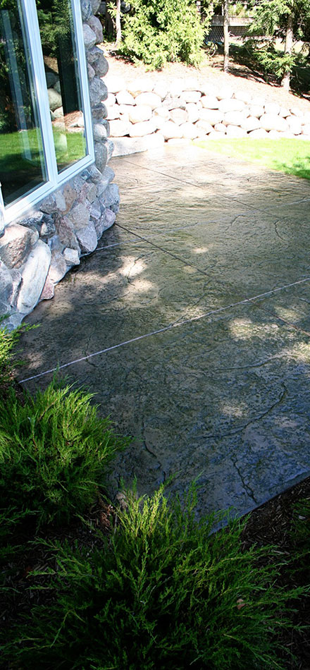 Stamped Backyard Patio - S30
